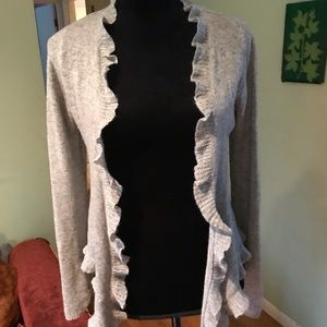Sweaters - Soft gray cashmere cardigan